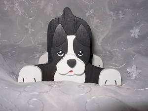 Boston Terrier Handmade Dog Business Card Holder