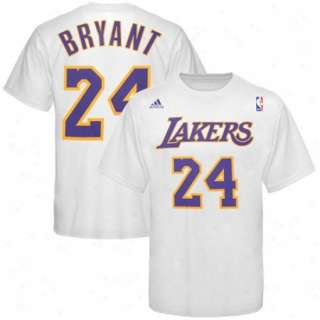 LA Lakers Kobe Bryant White Jersey T Shirt sz Medium