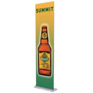 24 RETRACTABLE ROLL UP BANNER STAND w/ HALOGEN LIGHT
