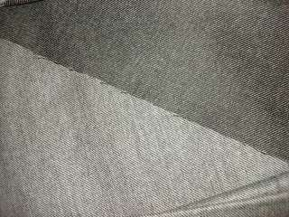 Vintage Wool Fabric BLACK & WHITE TWILL Worsted Weight 3 Yds