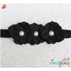 (Black)) Cute Triple Hydrangea Flowers on Headbands