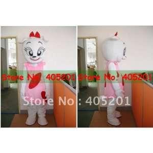 white cat mascot costume pink dress Toys & Games