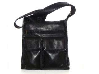 FOSSIL Super Soft Supple Black Pebbled Leather Shoulder Bag Handbag