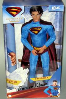 Superman Returns Superman Ken Doll with Poster   Barbie Collection