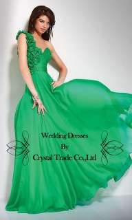 Green Prom Bridesmaid Dress Evening Wedding Bridal Dress Size 4,6,8,10