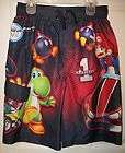 Super Mario Kart Wii Swim Suit Trunks Shorts Boys Size 10 / 12 NWT