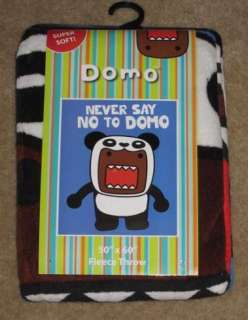 New Domo Kun in Panda Bear Suit Costume Plush Fleece Throw Blanket
