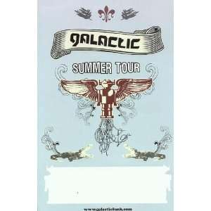 Galactic Original Promo Summer Tour Concert Poster 2006