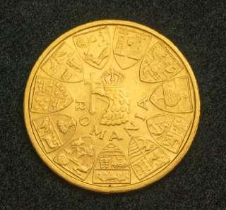 1944, Romania (Kingdom), Mihai I. Gold 20 Lei Coin. AU++
