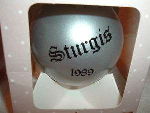 1989 Sturgis Motorcycle Rally & Races Ornament Harley Davidson Black