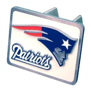 New England Patriots NFL Pewter Trailer Hitch Cover