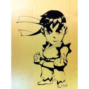 Street Fighter Ryu large vinyl decal