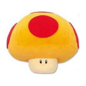 Super Mario Brothers  Mushroom Plush   6 (Yellow + Red