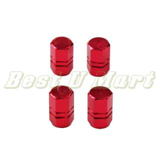 New 4 Pcs Car Tire Wheel Valve Stems Caps RED USA