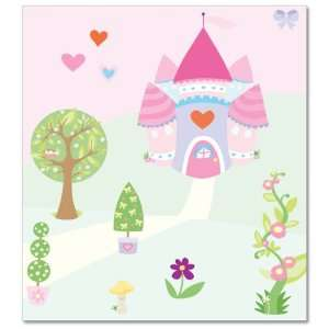 FunToSee Princess Childrens Wall Decals, Cupcake Castle