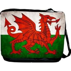 Rikki KnightTM Wales Flag Messenger Bag   Book Bag