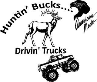 Deer and Trucking Vinyl Decal Sticker Car Truck Window