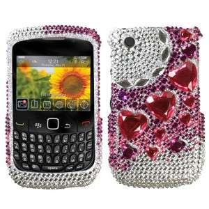 Heart Crystal Diamond BLING Case Phone Cover for BlackBerry Curve 9330
