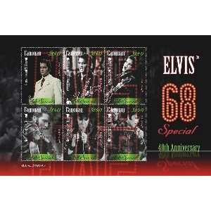 CANOUAN GRENADINES OF ST.VINCENT ELVIS PRESLEY/68 SPECIAL SHEETLET OF