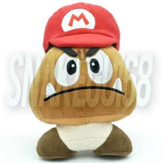 SUPER MARIO BROS LOVELY RED HAT GOOMBA PLUSH SOFT TOY DOLL+MX1555