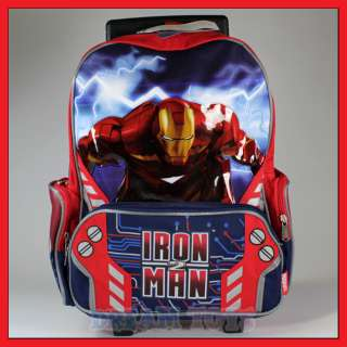16 Iron Man 3 Rolling Backpack Roller/Bag/Wheeled/Boys