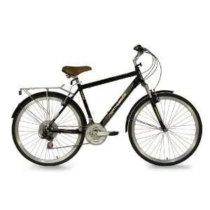 Northwoods Mens Springdale 21 Speed Hybrid Bicycle, Black