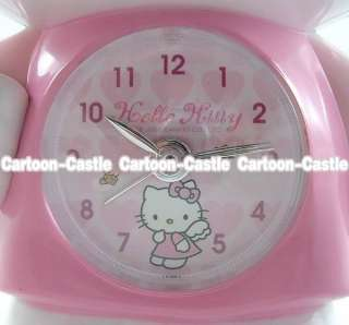 Hello Kitty Angel Kitty Bow Flash Alarm Clock Pink