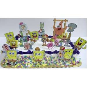SpongeBob SquarePants 18 Piece Cake Topper Set Featuring 8 SpongeBob