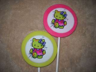 Chocolate Edible Icing LARGE 3x4 # Cat Hello Kitty Lollipops Lollipop