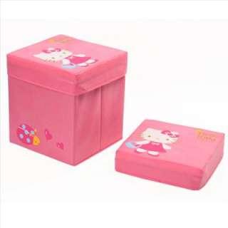 Hello Kitty Folding Chair Sofa Stool w/ Storage Pink