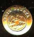 70 old SOUTH DAKOTA State Seal Coat Arms goldpl Tie Tac