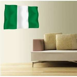 NIGERIA Flag Wall Decal Room Decor Sticker 25 x 18