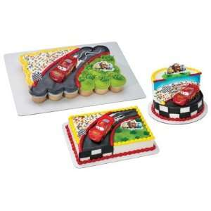 : Disney Pixar Cars McQueen Race Scene Cake Topper Set: Toys & Games