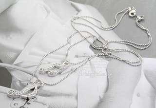 fashion Two chain music note elegant Necklace pendant South Korea hot