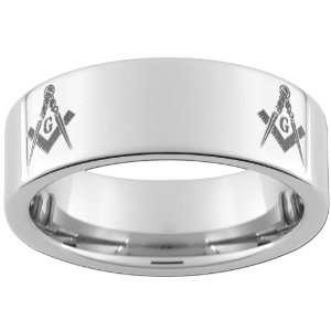 8mm Tungsten Carbide Ring Master Mason Jewelry