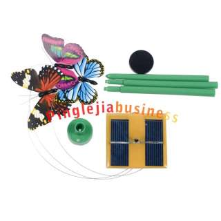 New Mini Solar Powered Flying Butterfly LED Light L