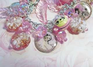 Pink Monkey Breast Cancer Awareness Charm Bracelet