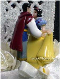 SNOW WHITE PRINCE CHARMING Disney Wedding Cake Topper 4