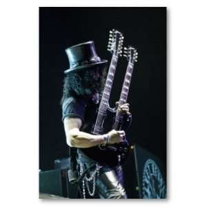 Slash Double Necked Guitar Poster Print