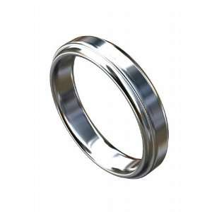 Solid 14K White Gold Classic Wedding Band P&P Luxury