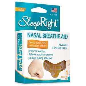 SleepRight Breathing Nasal Aid Reusable Reduce Snoring Aid