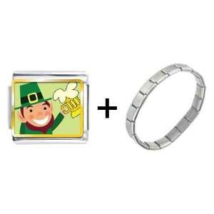 Gold Plated St. Patricks Day Theme Photo Italian Charm