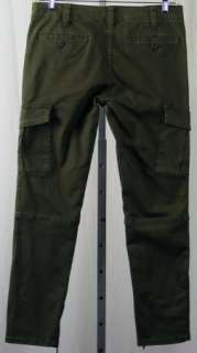 NEW $98 Free People Skinny Fatigue Green Stretch Military Cargo Pants