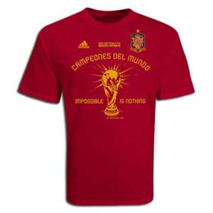 adidas SPAIN World Cup 2010 CHAMPIONS Shirt NEW RED