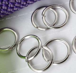 silver circle ring connector spacer bead jewellery finding jump ring