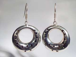 Vintage Sterling Silver Mexico Taxco French Wire Earrings