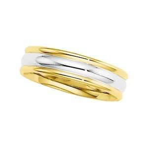 Size 13.00 14K Yellow/White Gold Two Tone Comfort Fit Band