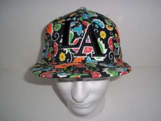 CITY HUNTER BRAND LA FITTED CAP HAT MULTI COLORED XL