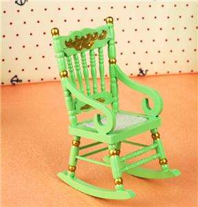 Dollhouse Furniture Classic Rocking Chair Wood Rocker