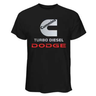 HOT Black & White T Shirt Cummins Turbo Dodge Truck Ram Power
